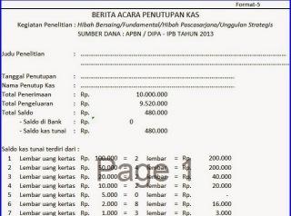 Download Contoh Laporan Keuangan Format Excel Simfoni Senja